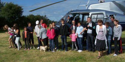 Bapteme hélicoptère au camping d'arzal, Morbihan