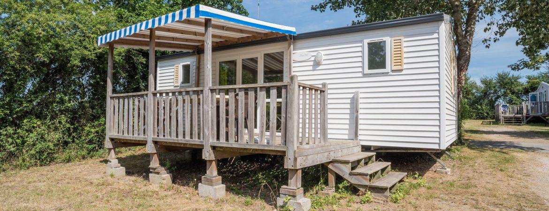 location mobil home Morbihan T3 détente avec terrasse ...